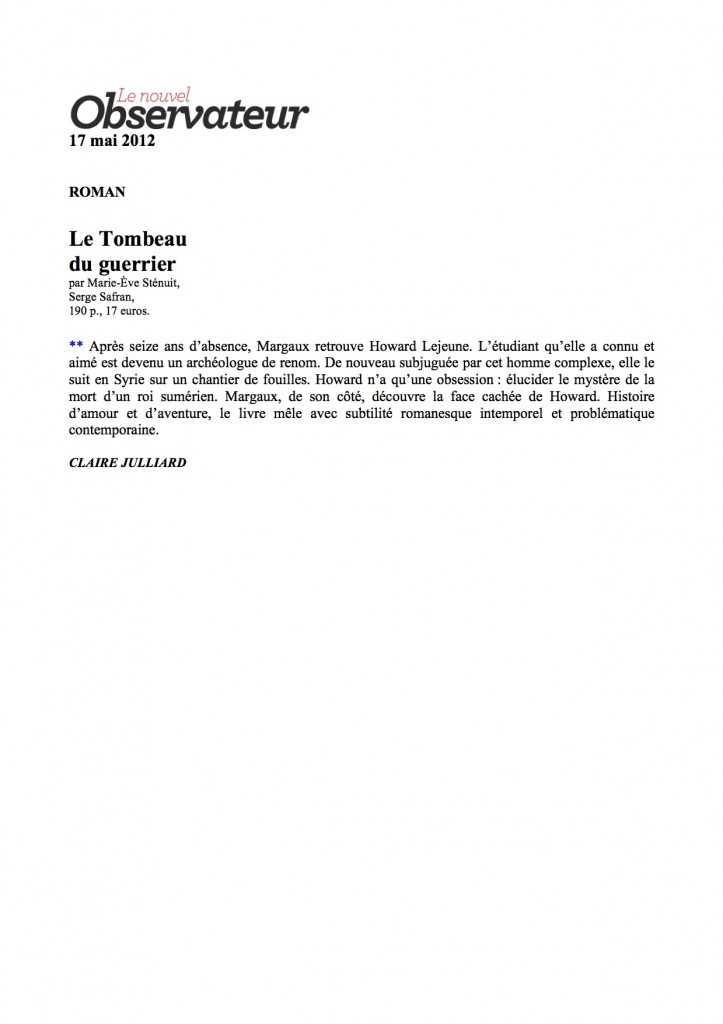 Le Nouvel Observateur Tombeau